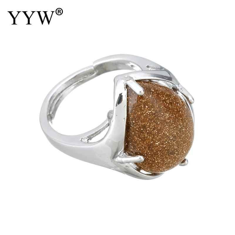 2018 anillos de lágrima para Mujeres Hombres tamaño: 7 anillo de dedo anillos ajustables gemas naturales piedra malaquita Ojo de Tigre mar ópalo amatistas