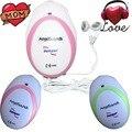 3pcs/lot Mini Portable Fetal Doppler Baby Sound Angel Heart Beat Pregnant Monitor Earphone USD Cable Pink/Green