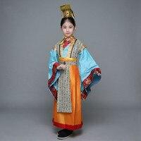 Traditionellen chinesischen Kostüm für Kinder Jungen Kaiser Bühne Kleidung Kinder Mädchen Tang-dynastie Kleidung Hanfu Cosplay Kleidung 89