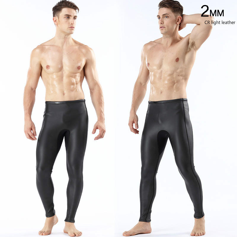 2 мм светлая кожа CR дайвинг гидрокостюм для дайвинга брюки теплые штаны для дайвинга мужские уличные плавки Новое поступление 2018 - 3