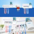 Electric Sterilizer Toothbrush Holder and Automatic Toothpaste Dispenser Cleaner Bathroom Home Set High Quality