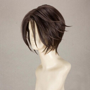 Image 3 - Final Fantasy FF8 Squall Leonhart Short Brown Heat Resistant Hair Cosplay Costume Wig + Free Wig Cap