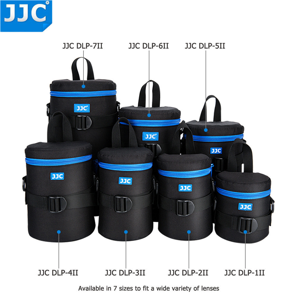 JJC Deluxe Lens Pouch Camera Waterproof  Bag for Canon Sony Nikon Olympus Panasonic Fujifilm JBL Xtreme Soft DSLR Polyester Case