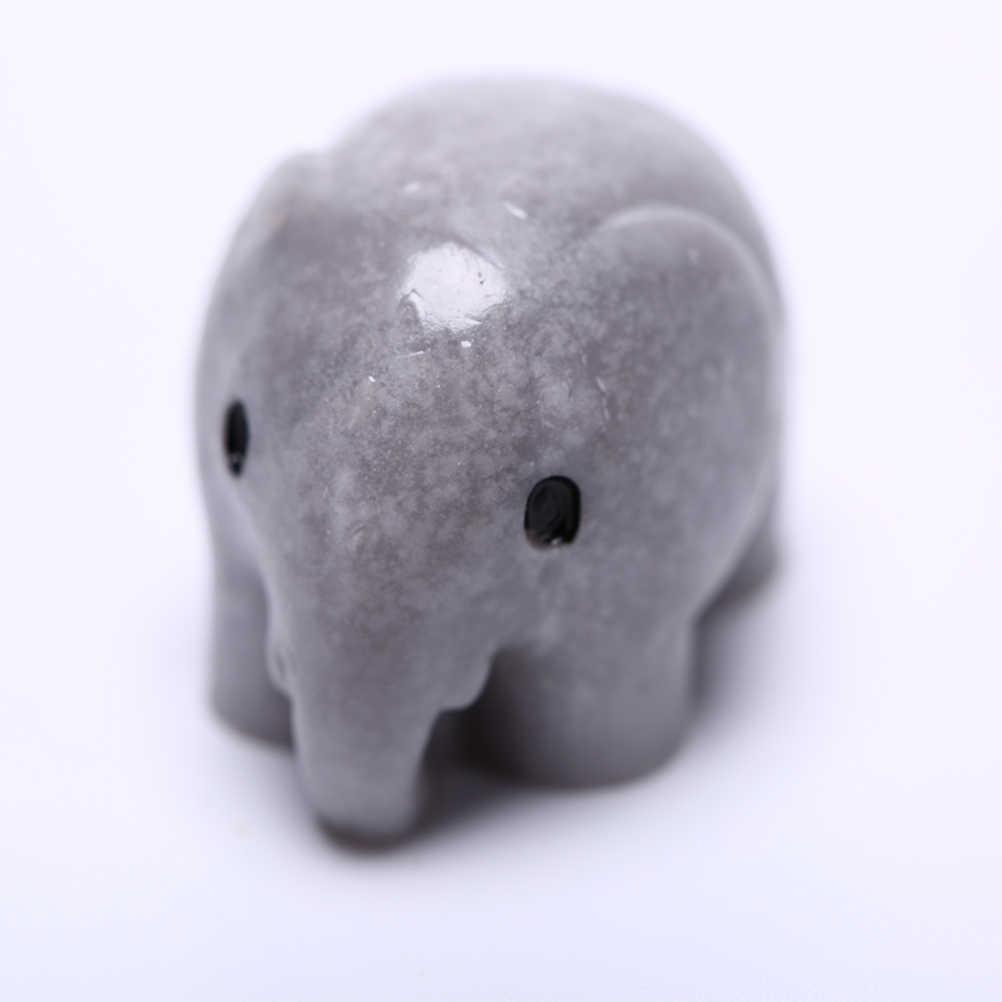 Novedoso elefante Artificial de hadas, miniaturas de jardín, gnomos terrarios con musgo de resina, artesanías para el hogar, estatuillas para decoración de jardín