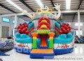 2014 nuevo diseño inflable combo, inflable castillo puente para el niño en venta