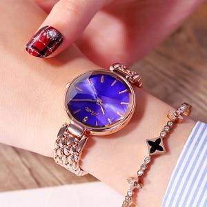 Image 2 - スーパー高級ダイヤモンド女性の腕時計レディースエレガントカジュアルなクォーツ腕時計女性ステンレス鋼ドレス腕時計時計女性のギフト