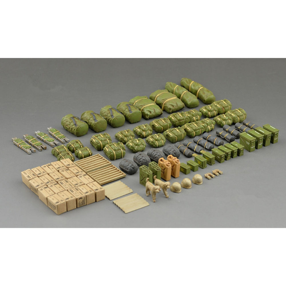 OHS Tamiya 35266 1/35 Modern US Army Military Equipment Set Assembly Military Miniatures Model Building Kits G box clutch purse
