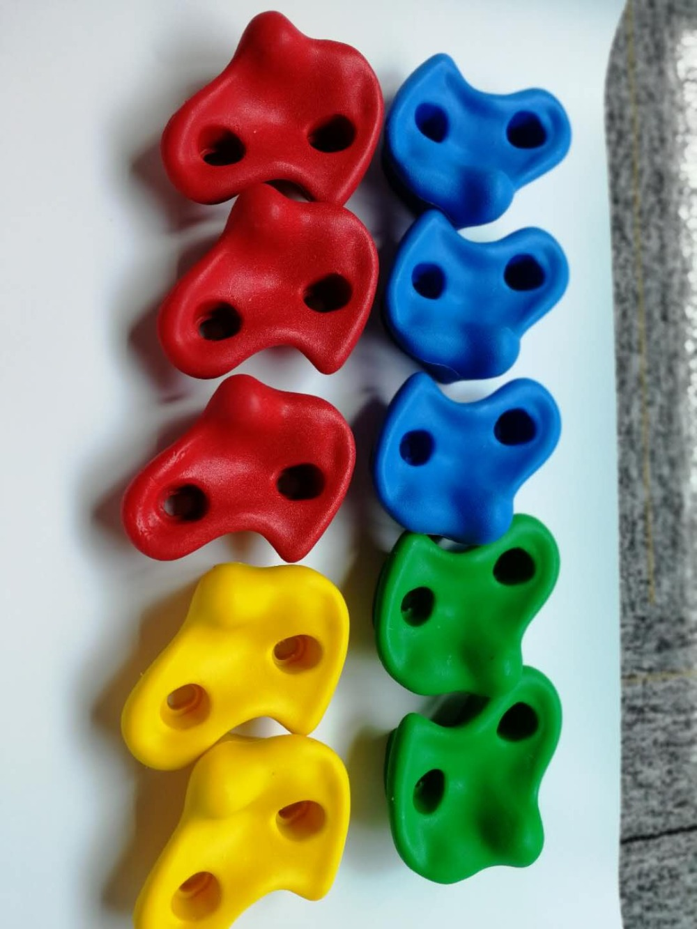 15 pièces 12 cm grande taille en plastique enfants enfants escalade bois mur pierres main pieds tient des Kits de poignée sans vis couleur aléatoire - 3