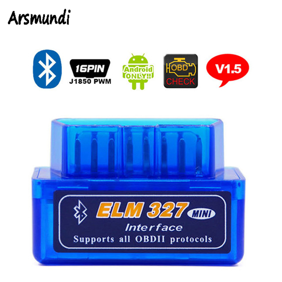 Prix pour Mini ELM327 Bluetooth Auto Outil De Diagnostic V1.5 ELM 327 Code De Diagnostic-Outil OBD2 Voiture Scanner V1.5 OBD 2 OBDII Scaner Automotriz