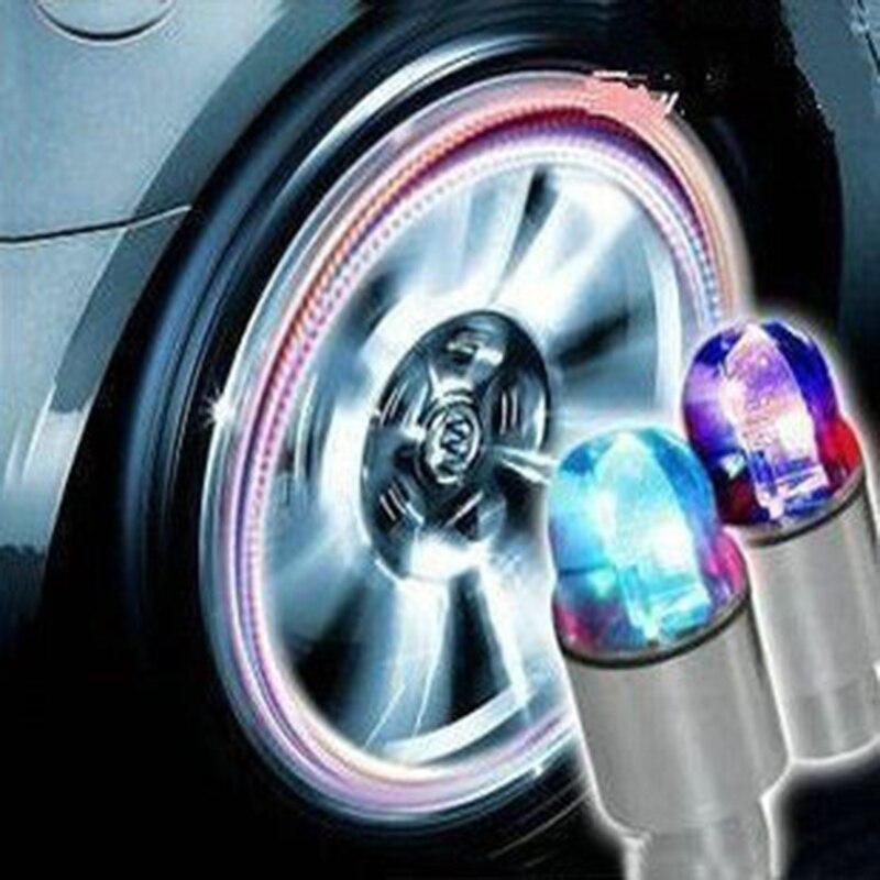 4 pçs/lote piscando cor diferente atacado varejo levou luz intermitente carro lâmpada roda legal iluminação colorida pneu para o estilo do carro