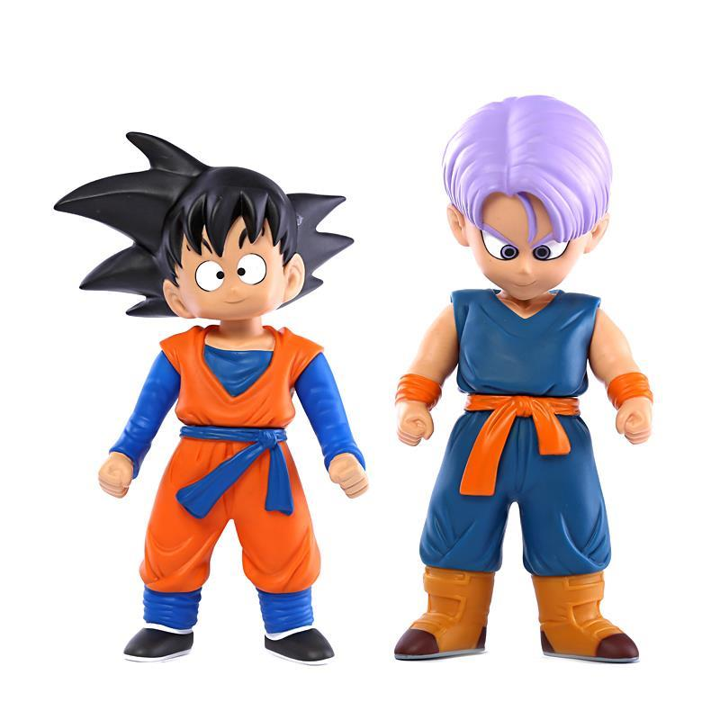 Dragon Ball Z Son Goku Son Goten VS Trunks PVC Action Figure Collectible Toys 8 20cm japan anime dragon ball z baby son goku sleeping ver mini toys pvc action figure collectible model doll kids toys 8 5cm