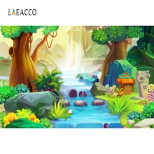 Laeacco Juggle Forest Mushroom Fairy Tale Baby Portrait Photography Background Custom Photographic Backdrops For Photo Studio