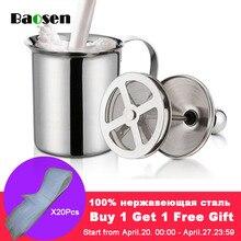 Baosen 800 мл двойной сетки Молоко сливки нержавеющая сталь для взбивания молока Капучино молоко кувшины Белое Яйцо Кухня инструмент гаджеты