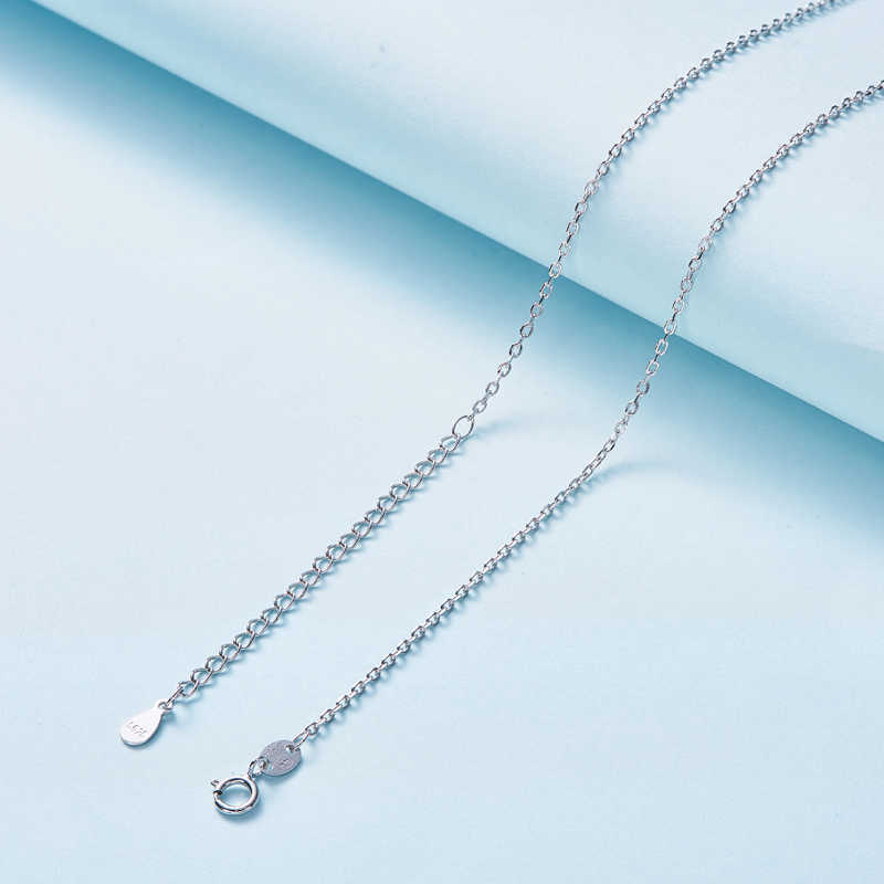 CDE 925 Sterling Silber Halskette Schmuck Verziert mit kristallen von Swarovski Einstellbar Ketten 1PCS Für Frauen Schmuck DIY