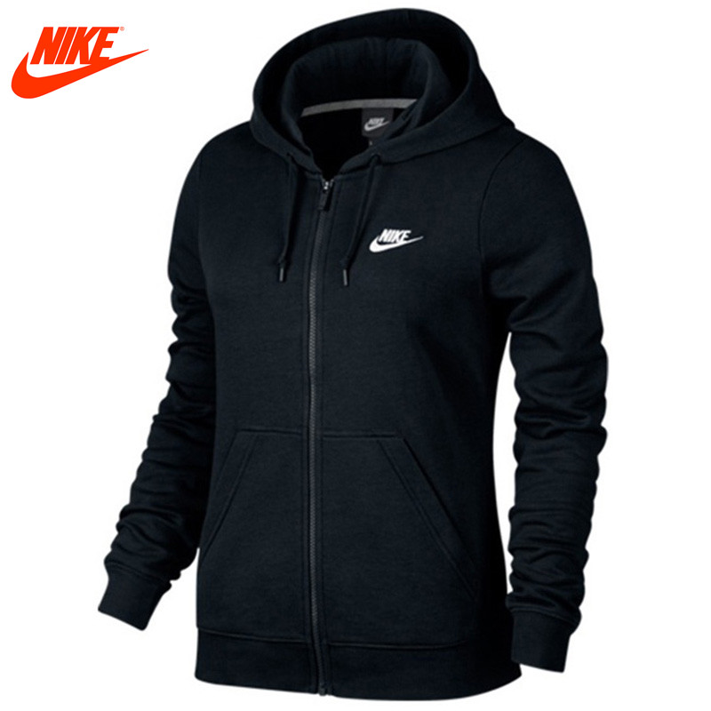 Original Nike women's slim Breathable spring new knitted Hooded jacket original nike men s black knitted jacket hooded sportswear