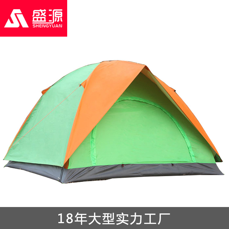 Three Person 200*200*135cm Double Layer Weather Resistant Outdoor Camping Tent For Fishing, Hunting Adventure And Family PartyThree Person 200*200*135cm Double Layer Weather Resistant Outdoor Camping Tent For Fishing, Hunting Adventure And Family Party