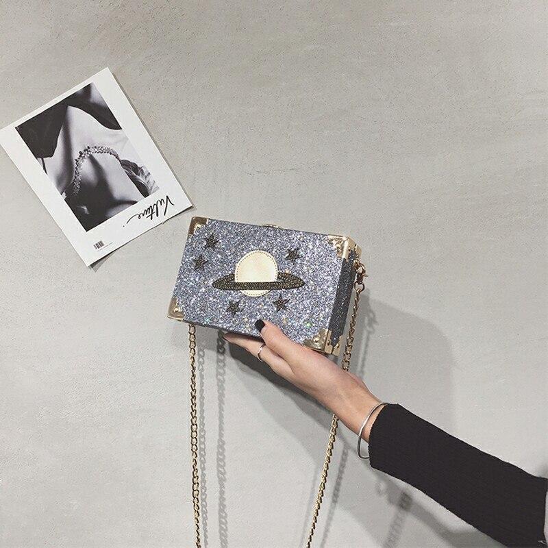 Личность Дизайн женский небольшой площади сумка клатч цепь сумка диагональный крест мобильного телефона портмоне