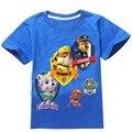 5 estilos 2016 verão novo Dog Patrol meninos meninas de manga curta t-shirt Catoon 3D padrão crianças Tops para 4 - 8 anos crianças roupas