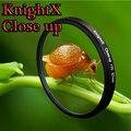 Knightx close up 52 58 67mm macro filtro de lente para nikon canon eos dslr d3300 d3100 d5200 d7100 d7200 d5100d5300 nd gopro 49 55