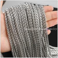 New Arrive 5 10Meter Hot Fashion DIY Jewelry Fashion 3mm Wheat Braided Chain Stainless Steel Silver
