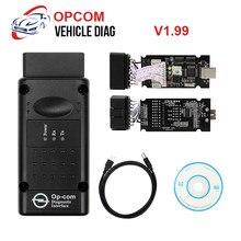 OPCOM-lector de código OBD2, herramienta de diagnóstico de coche, transmisión ABS, V1.99/V1.70/V1.78, con Chip PIC18F458, OP COM OBD2 intermitente