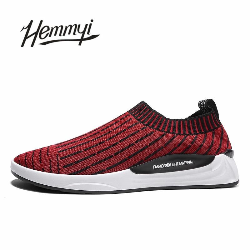 Sneakers Nouvelle rouge De Vogue Résistant Chaussette Mâle Sport Hommes Chaussures Msouth Noir Silver Respirant Slip sur À L'usure Belle black wTTqfXS0