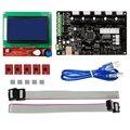MKS Gen kit com MKS Gen V1.4 V1.4 3d RepRap placa + 5 PCS A4988 Driver + 12864 LCD Gráfico