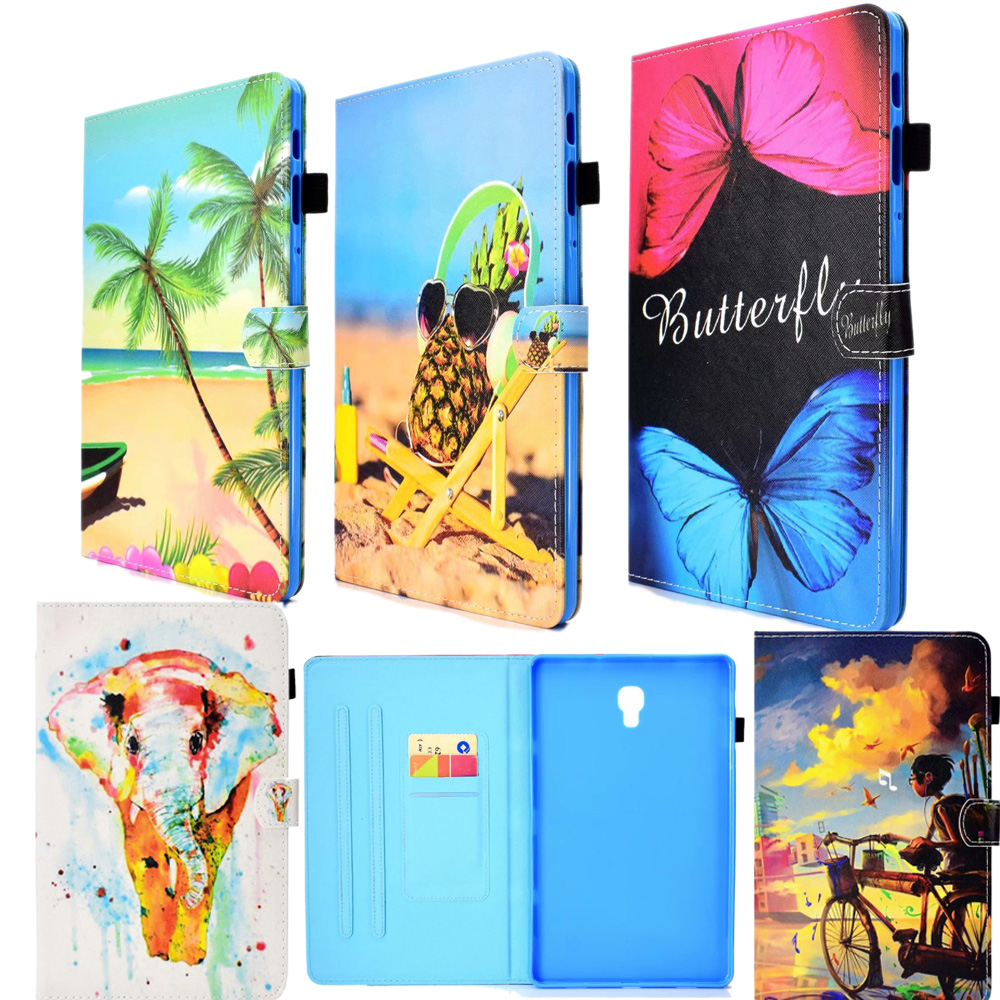 Newest 3D Cute Animals Cover For Samsung Galaxy Tab S4 10.5 T830 T835 Case Card Holder Protective Stand Leather Flip Shell Skin
