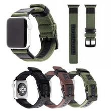 New nylon leather canvas casual strap iwatch1234 for Apple Watch Strap
