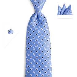 DiBanGu Новинка классические Для мужчин Галстук шелковый Лидер продаж синий черный небольшой узорами Пейсли широкий галстук Свадебная