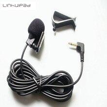 Linhuipad Mini Wired Micrófono Externo Coche para Reproductor de DVD Del Coche 3 m Cable con 3.5mm Jack De Audio Mono Micrófono de cuello 1 unids/lote