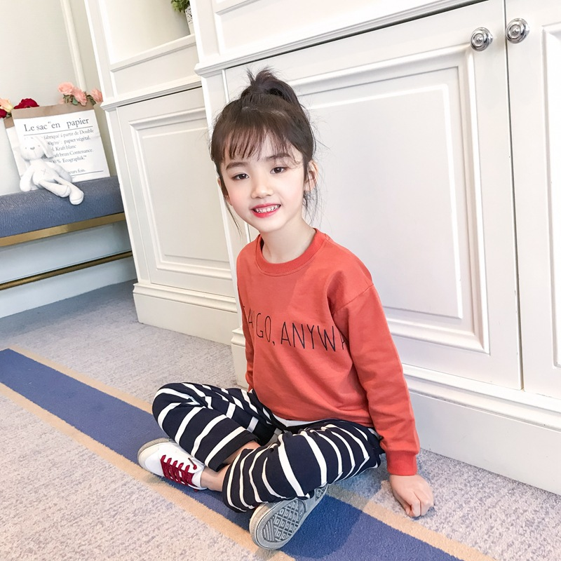 Teenage Girls Clothing Set Spring 2018 Kids Clothes For Girls 4 5 6 7 8 9 10 11 12 13 Years Long Sleeve Letter Shirt + Leggings sport suit for boy 5 6 7 8 9 10 11 12 13 14 15 years teenagers kids clothing set long sleeve print shirt pant 2pcs clothes