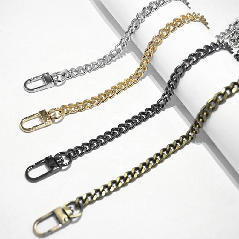 DIY 40cm-140cm Light 7mm Gold, Gun Black, Silver Bronze Replacement Purse Chain Shoulder Crossbody Strap For Small Handbag