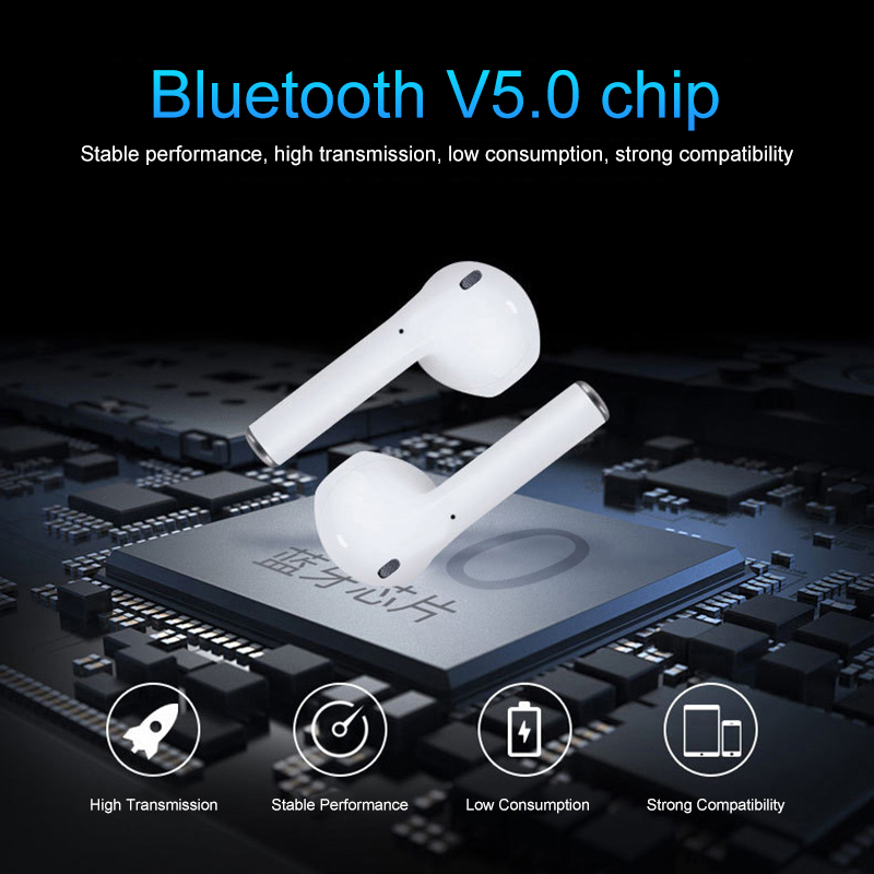 i12 tws Bluetooth Earphone Wireless earphones Touch control Earbuds 3D Surround Sound & Charging case for iPhone Android phone 4
