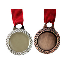 customized medals hot sales blank metal can add LOGO  cheap custom antique color medal ribbons