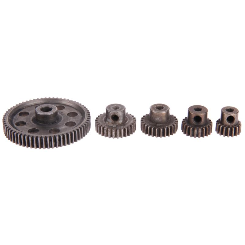 5pcs/Set Differential Main Metal Spur Motor Gear RC Toys Part for HSP Truck 2pcs metal differential driving gear 38t
