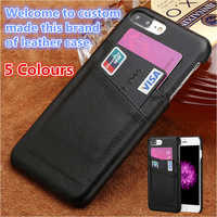 QH06 Genuine leather cover case for Huawei P Smart phone cover for Huawei Enjoy 7S phone case with card slots free shipping