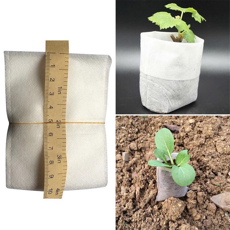100pcs Nursery Pots Seedling Raising Bags Fabrics Garden Nursery