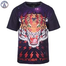2017 Mr.1991INC Space Galaxy T-shirt Men/Women 3d T-shirt Print Lightning Tiger Brand T Shirt Fashion Summer Tops Tees