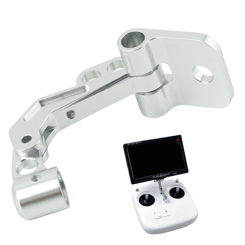 1Pcs FPV CNC LCD Monitor Support Mount Bracket Vertical Holder for DJI Phantom JR Futaba Transmitter RC Parts