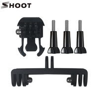 SHOOT 5 in 1 Diving Light Tripod For Gopro Hero5 6 4 3 SJCAM SJ4000 SJ5000 Xiaomi yi 4K Eken Double Bracket Bridge Connector Kit