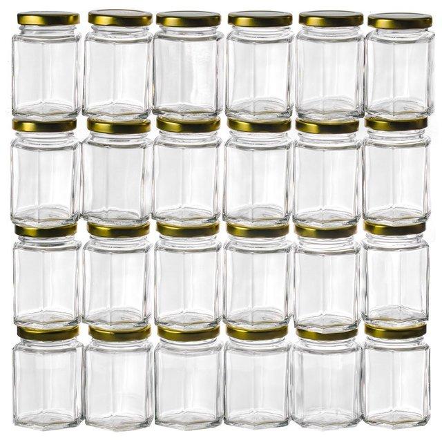375OZ Hexagon Glass JarsBulk 24 Pack USD5400 for 24PCSEach
