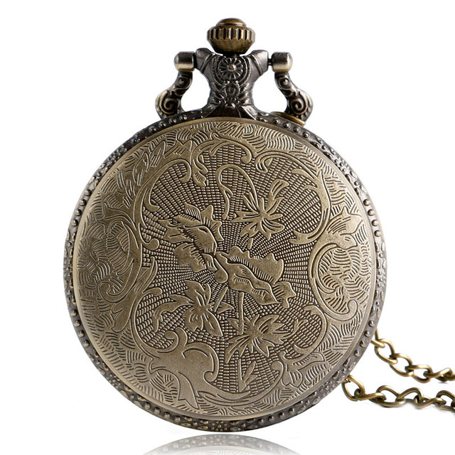 Hot Selling Dinosaur Quartz Pocket Watch Skyrim Elder Scrolls Dragon Vintage Pendant Necklace for Men Women with Chain Xmas Gift
