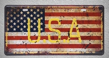 1 pc USA American New York Flag Washington  plaques shop store Tin Plates Signs wall Decoration Metal Art Vintage Poster
