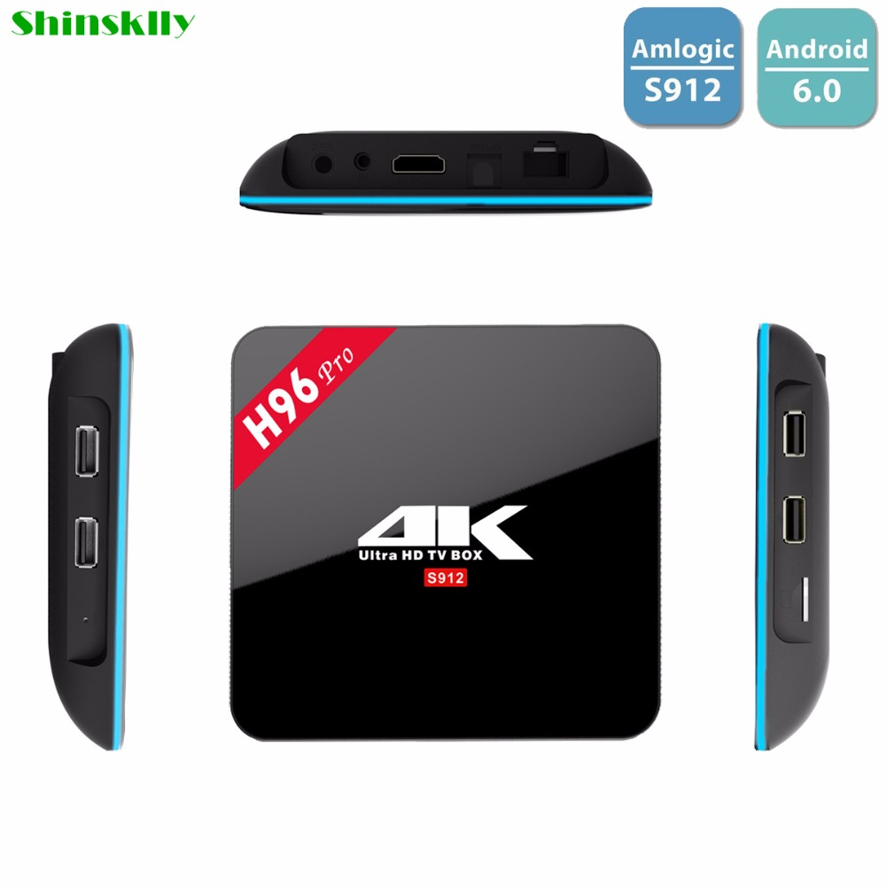 Shinsklly H96 pro Android Tv Box Amlogic S912 Octa Core ram 2gb+16gb Android 6.0 TV Box 2.4G/5GHz WIFI Media Player Set Top Box maihui ladies cowhide long genuine leather standard wallet women with coin pocket card holder vintage purse note compartment
