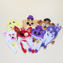 FNAF five nights at freddy's plush cap cosplay Freddy Fazbear chica foxy bear plush hat fnaf plush stuffed toys(China)