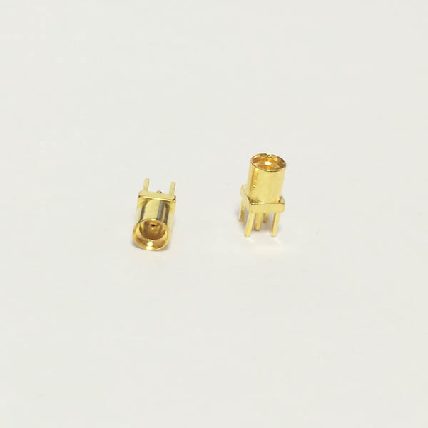 1PC  MMCX  Female Jack  RF Coax Connector  PCB Mount  With solder post  Straight  Goldplated  NEW  wholesale adapter sma plug male to 2 sma jack female t type rf connector triple 1m2f brass gold plating vc657 p0 5