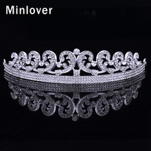 Minlover Crystal Pelo De La Boda Accesorios Tiara Nupcial para Las Mujeres Rhinestone Pelo de La Corona de Joyas HG002