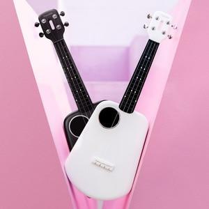 Image 2 - Populele 2 LED חכם סופרן יוקולילי קונצרט מxiaomi Bluetooth Ukulele 4 מחרוזות 23 אינץ לבן אקוסטית חשמלי גיטרה Uke