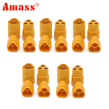 5 par/lote AMASS MT60 3,5mm 3 polos bala conector de RC ESC a Motor(China)